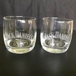 Pair of Jack Daneils No. 7 Whiskey Etched Glasses